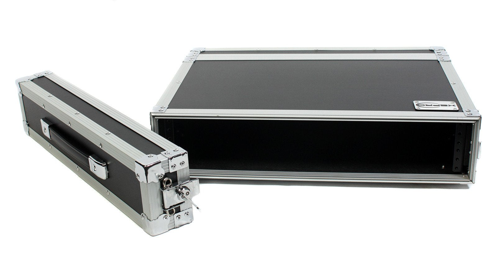 "XSPRO XS2U-12 2 Space 2U ATA Effects Rack Flight Case Front Back Rails -19"" Wide"