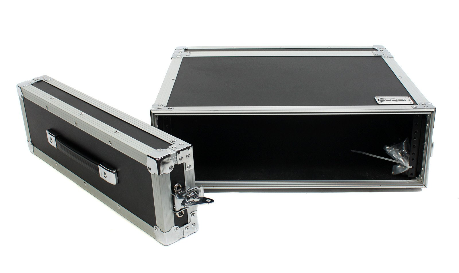 "XSPRO XS3U-14 3 Space ATA Effects Rack Flight Case Front Back Rails - 19"" Wide"