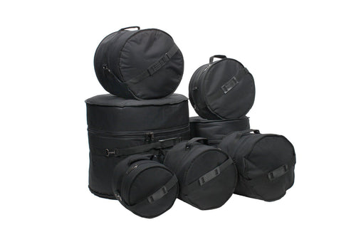 7 Piece Deluxe Padded Drum Bag Set
