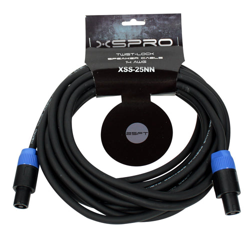 XSPRO 25' 14 AWG Twist Lock Speaker Cable