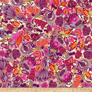 Freespirit Fabrics - Garden Dreams - Secret Garden Pink
