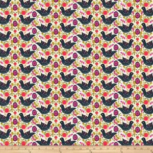 Freespirit Fabrics - Garden Dreams - Birds Black