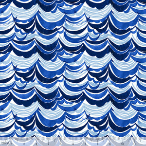 Blend Fabrics - Arctic Playground - Watercolor Waves Navy CLEARANCE