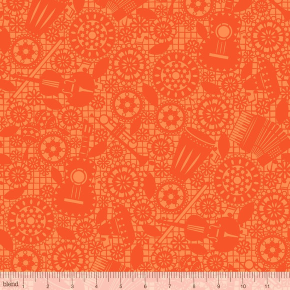 Blend Fabrics - Fiesta - Mariachi Orange