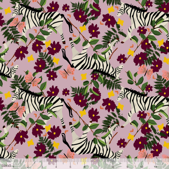 Blend Fabrics - Into the Wild - Plains Zebra Lilac