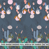 Cloud 9 Organic - Bird's Eye View - Viewfinder Border Pint Blue Fabric