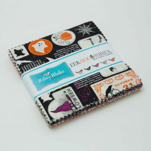 Eek Boo Shriek 5 Inch Charm Pack Bundle Stacker - 42 Piece - Carina Gardner - Riley Blake Designs Fabric