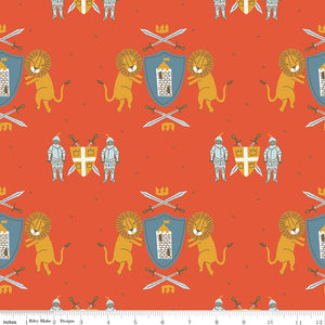 Riley Blake Fabrics - Lancelot - Main Red CLEARANCE