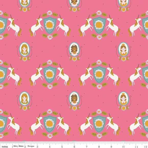 Riley Blake Fabrics - Guinevere - Main Hot Pink CLEARANCE