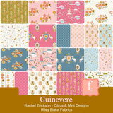 "Citrus & Mint Designs Guinevere 5"" Stacker 42 5-inch Squares Charm Pack Riley Blake 5-7080-42 CLEARANCE"