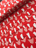 Cotton + Steel Fabric - Front Yard - Mushrooms Red Clearance