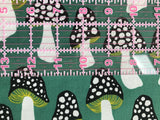 Cotton + Steel Fabric - Front Yard - Mushrooms Green Clearance