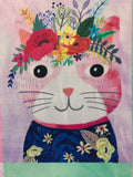 Blend Fabrics - Floral Pets - Kitty Multi