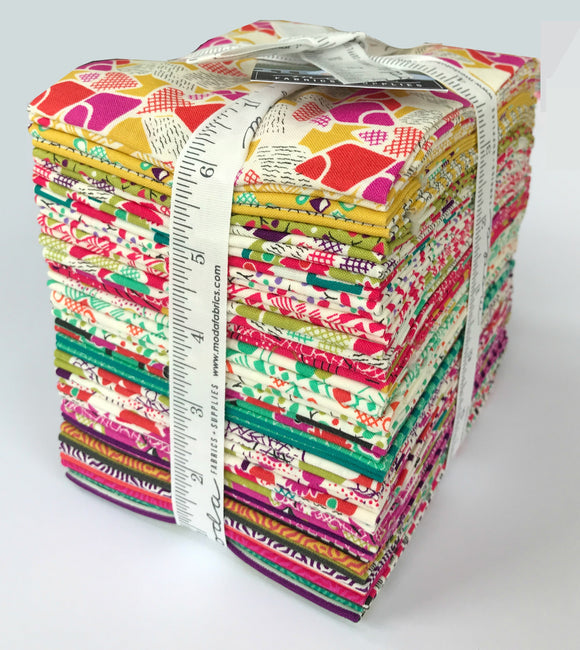 Moda Fabrics -  Jen Kingwell Looking Forward Fat Quarter Fabric Bundle 30pcs