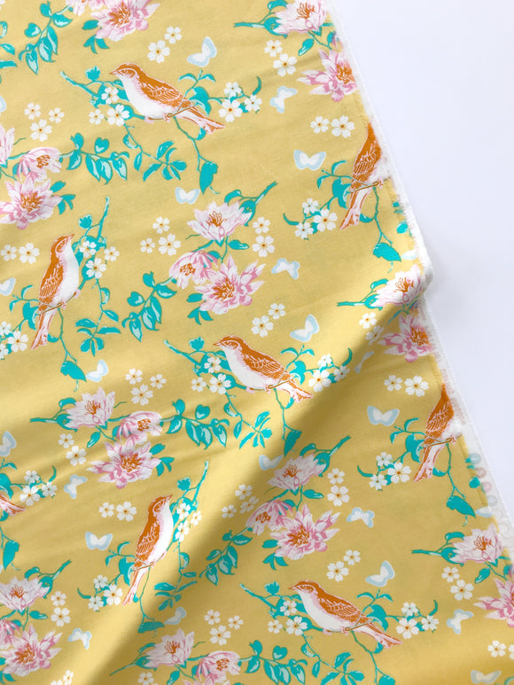 Freespirit Fabrics - Songbird - Darling Meadow Mustard