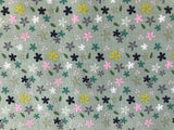 Riley Blake Fabric - Christopher Thompson - Mary Elizabeth - Daisies Grey - Quilters Cotton