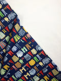 Windham Fabric - Striped Pear Studio - Winter Gnomes - Laundry Nordic Blue - GOT Certified Organic
