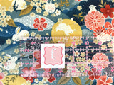 Paintbrush Studio Fabric  -  Moon Rabbit - Moon Rabbit Blue- Quilters Cotton