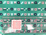 Riley Blake - Seaside - Seaside Flags Teal - C7233 CLEARANCE