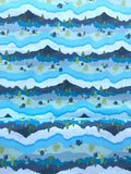 Art Gallery - Catch & Release - Mister Domestic - Mountain Scape - Quilters Cotton