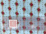 Penny Rose - Farmhouse - Floral Stripe Blue