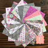 My Gray or the Highway 5 Inch Squares Charm Pack - 42 Pieces - Jackie McFee - Camelot Fabrics
