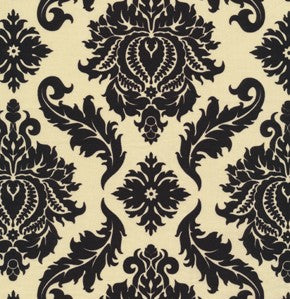 Freespirit Fabrics - Aviary 2 - Black Damask Caravan