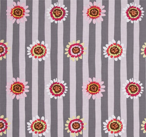 Freespirit Fabrics - Kaffe Fassett Collective - Fall 2014 - Regency Daisy Stripe Grey