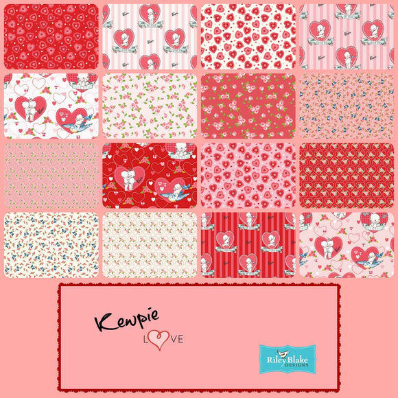 Kewpie Love 5 Inch 42 Piece Stacker Charm Pack  - Riley Blake Fabrics