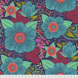 "Freespirit Fabric - Anna Maria Horner - Hindsight - Honorable Mention Turquoise 108"" WIDEBACK"