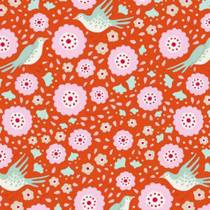 Tilda Fabrics - Bird Pond - Lovebirds Ginger