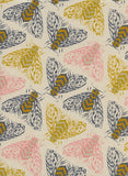 Cotton + Steel Fabric - Magic Forest - Bees Yellow