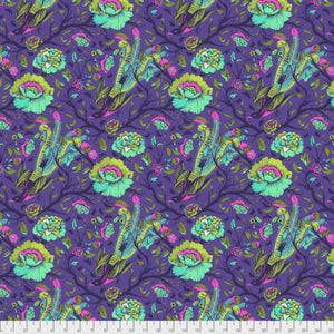 Freespirit Fabrics - All Stars - Tail Feathers Iris