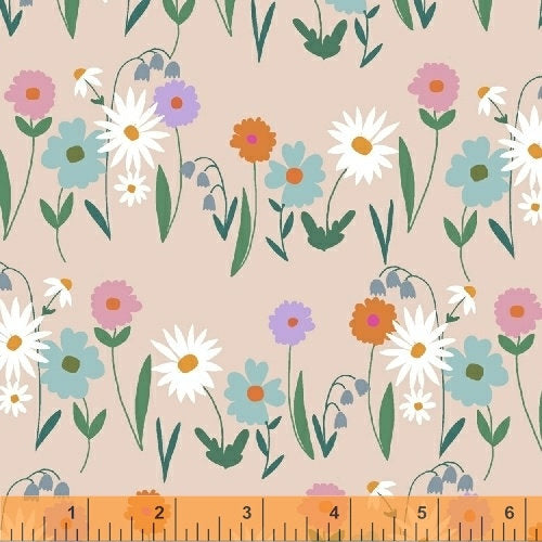Windham Fabrics - Daisy Chain - Field of Flowers Pink