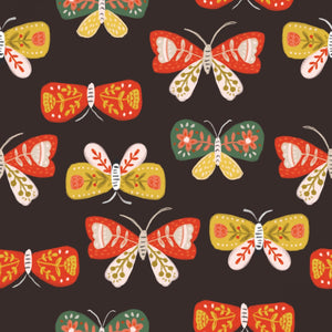 Quilter's Palette - Glorious Garden - Dark Brown Butterflies