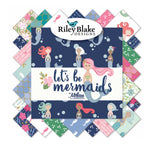 Riley Blake Fabrics - Let's Be Mermaids Rolie Polie Fabric Bundle 40pcs