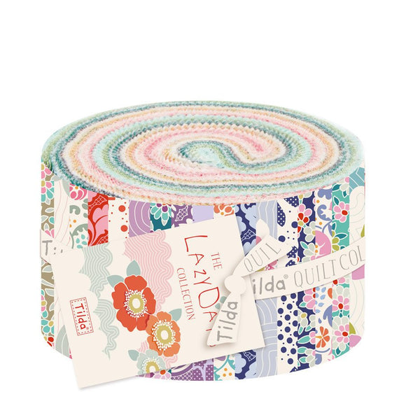 Tilda Fabrics - Lazy Days Jelly Roll Fabric Bundle 40pcs