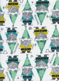 Cotton + Steel Fabric - Front Yard - Gnomes Green Clearance