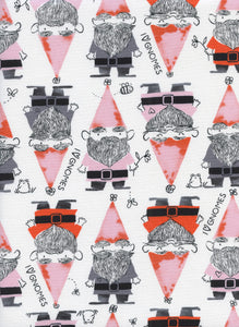 Cotton + Steel Fabric - Front Yard - Gnomes Red Clearance