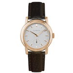 Women's Rose Gold Watch w/ White Dial & Brown Strap