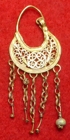 Gold Byzantine Ear Ring