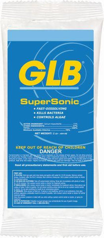 GLB SuperSonic Chlorine Shock - Case of 24 x 1 lb Bags - Yardandpool.com