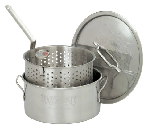 Bayou Classic 10 Quart Stainless Steel Fry Pot w/ Basket