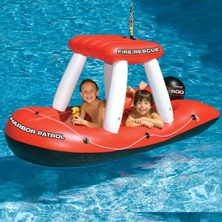 Fire Boat Squirter Pool Float