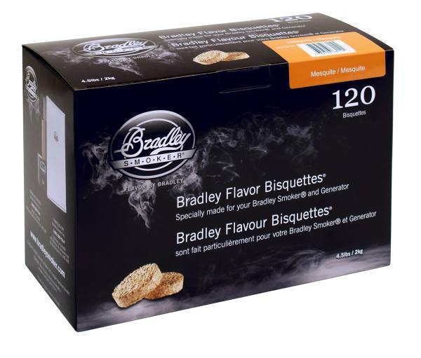 Bradley Smoker Bisquettes 120 Pack - Mesquite