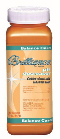 Brilliance for spas pH Decreaser with Mineral Salts - 20 oz