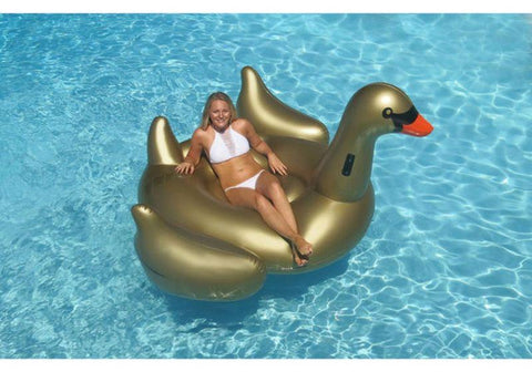 Giant Golden Goose Swimming Pool Float