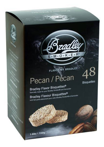 Bradley Smoker Bisquettes 48 Pack - Pecan