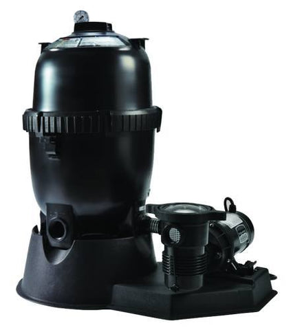 Sta-Rite PLD Series Mod D.E. Filter with 1 HP OptiFlo Pump 3' Twist Lock Cord - Yardandpool.com