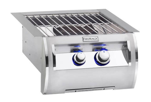 Fire Magic Echelon Diamond Series Built-In Power Burner w/ Stainless Steel Grid - Natural Gas - Yardandpool.com